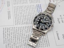 Rolex-Matrose auf einem U-Boot auf englischem Papier Lizenzfreie Stockfotografie