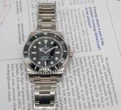 Rolex-Matrose auf einem U-Boot auf englischem Papier Lizenzfreie Stockfotos
