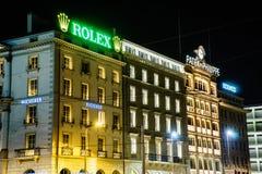 Rolex-opslag Stock Afbeelding
