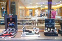 Rolex przechuje przy Filadelfia Rolex SA jest Szwajcarskim luksusowym zegarmistrzem Ja jest wielkim pojedynczym luksusowym zegark Obrazy Royalty Free
