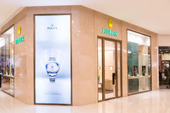 Rolex SA with its outlet in Kuala Lumpur, retail and service wristwatches under Rolex and Tudor brands Stock Photography