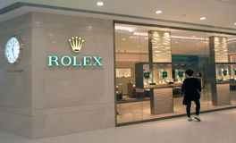 Rolex shop in hong kong Royalty Free Stock Photos