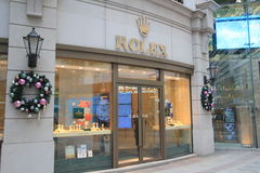 Rolex shop in hong kong Royalty Free Stock Photography