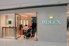 Rolex shop Stock Images