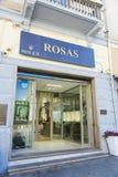 Rolex shoppar i Sardinia, Italien Fotografering för Bildbyråer