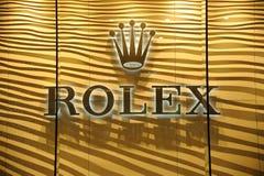 Rolex stigmatisent le logo Photographie stock libre de droits