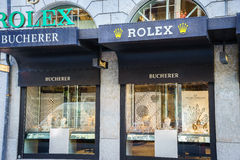 Rolex store Stock Photography
