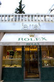 Rolex store entrance Royalty Free Stock Images