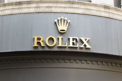 Rolex store in in Newcastle upon Tyne Royalty Free Stock Photos