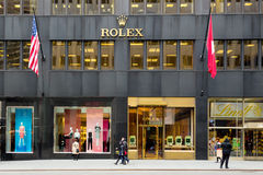Rolex Store NYC Stock Images