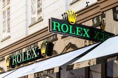 Rolex Store Stock Photo