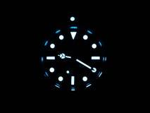 Rolex submariner with superluminova glow Royalty Free Stock Photos