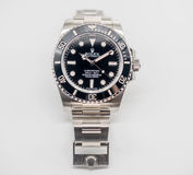 Rolex submariner on white background Royalty Free Stock Photo