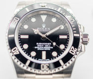 Rolex submariner on white background Stock Photo