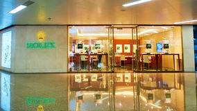 Rolex watch shop front Royalty Free Stock Photos