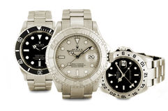 Rolex watches. Picture of three rolex sports watches Stock Image