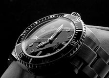 ROLEX wristwatch. Kuala Lumpur, Malaysia - June, 14 2012: Close up picture of ROLEX DEEPSEA wristwatch stock image