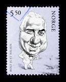 Rolf Just Nilsen (1931-1981), serie de los actores, circa 2002 stock de ilustración