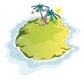 rolig ö för öken Royaltyfri Foto