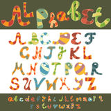Rolig alfabetcapital och lowercase Royaltyfri Fotografi