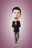 Rolig asiatisk stor head man royaltyfri fotografi