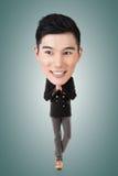 Rolig asiatisk stor head man royaltyfri foto