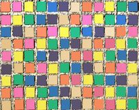 Rolig bakgrund för färg med mosaiktegelplattor Royaltyfria Bilder