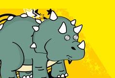 Rolig bakgrund för triceratopstecknad filmuttryck Fotografering för Bildbyråer