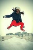 Rolig banhoppning för tonårs- flicka Arkivfoton