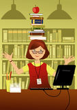Rolig bibliotekarie Royaltyfria Bilder