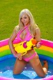 Rolig bikiniflicka Fotografering för Bildbyråer
