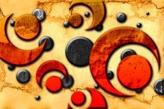 Rolig bild för abstrakt illustration för färgdesignkonst Royaltyfri Fotografi