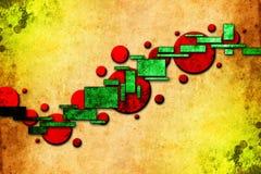 Rolig bild för abstrakt illustration för färgdesignkonst Arkivbilder
