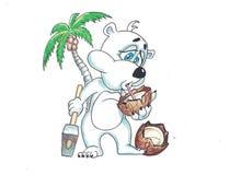 Rolig björn med frukter arkivfoto