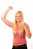 Rolig blond kvinna Arkivfoto
