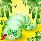 rolig caterpillar Fotografering för Bildbyråer