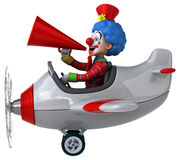 Rolig clown Arkivbilder