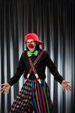 Rolig clown i humoristiskt begrepp Arkivbild