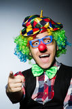 Rolig clown mot Arkivbilder