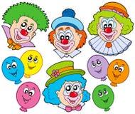 rolig clownsamling Fotografering för Bildbyråer