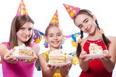 rolig deltagare för födelsedag royaltyfri bild