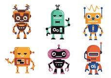 Rolig design för Geekrobottecken Stock Illustrationer
