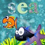 Rolig design för havsdjur för barn Fotografering för Bildbyråer