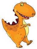rolig dinosaur royaltyfri illustrationer