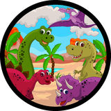 Rolig dinosaurtecknad film Fotografering för Bildbyråer