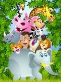 rolig djur tecknad film Royaltyfria Bilder