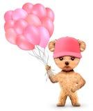 Rolig djur uppehälle per grupp av ballonger Arkivfoto