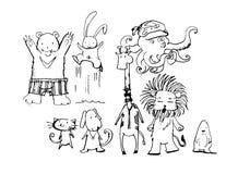 Rolig djurtecknad film Arkivbilder