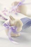 Rolig easter kanin för två Fotografering för Bildbyråer