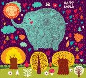 Rolig elefant Arkivbild
